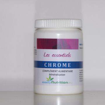 Métabolisme normal des macronutriments (protides, lipides, glucides) et plus particulièrement il contribue au maintien d'une glycémie normale - Chrome - Easynutrition.eu